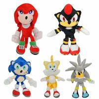 Set of 5 Sonic The Hedgehog Shadow Plush Doll Stuffed Animal Figure Toy 10INCH