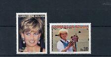 Bolivia 1997 MNH Princess Diana Memorial 2v Set HALO