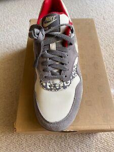 Nike Air Max AM1 White Snow Leopard Animal Print Pack Atmos 319986-099 Wmns 8.5