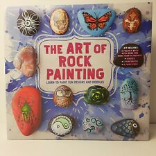 The Art Of Rock Painting Kit.Learn to Paint Fun Designs and Doodles Rocks Includ