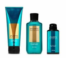 Bath and Body Works - Atlantic - Men's - 3 pc Bundle - Ultra Shea Body Cream,