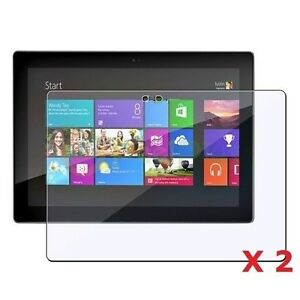 """2 x Clear Screen Protectors For Microsoft Surface RT Windows 10.6"""" Inch Tablet"""