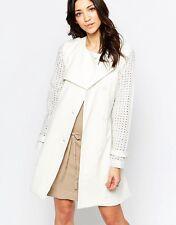 LAVAND femme ceinture léger trench coat taille L-UK 16-18