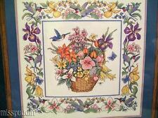 JCA Hummingbird Basket Counted Cross Stitch Kit #03091 Needle Treasures Sealed
