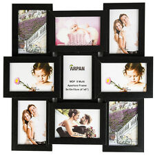 Multi cornice foto con collage 6x4'' 9 Apertura Cornice Della Parete-Nero cl-1015bk9
