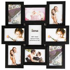 Multi Collage Foto Bilder Rahmen 15.2x10.2cm 9 Blene Wand - Schwarz CL-1015BK9