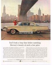 1960 MERCURY Monterey Sultana White 2-door Coupe Brooklyn Bridge Vtg Print Ad