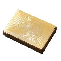 ImperméAble à L'Eau Poker Set Deck Gold Foil Cartes à Jouer Jeu de SociéTé  P6N8