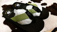 New Women's Yellow Box JINX Mellow Mat Yoga Mat Style Flip Flops Sandals Black