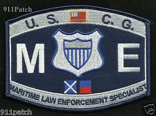 Military USCG Rating ME Maritime Law Enforcement United States COAST GUARD Patch