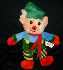 "12"" VINTAGE CHRISTMAS K & K SALES ELF BOY DOLL STUFFED ANIMAL PLUSH TOY HOLIDAY"