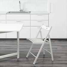 IKEA TERJE Sedia pieghevole BIANCO LEGNO MASSELLO IN progettazione da cucina