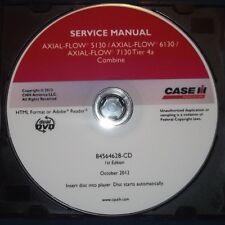 CUSTODIA AXIAL FLOW 5130 7130 4a COMBINE SERVICE SHOP REPAIR BOOK MANUAL CD