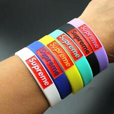 Supreme new Wristbands Silicone Bracelets