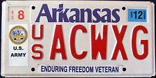 "ARKANSAS "" FREEDOM VETERAN - U.S. ARMY  "" AR Military Specialty License Plate"