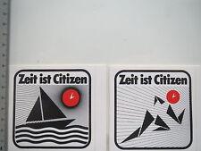 2 x autocollant sticker Citizen-Montres temps-chronomètre (6529)