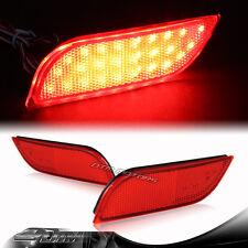 Red Lens Rear Bumper Reflector LED Brake Stop Lights 08+ Subaru Impreza WRX STI