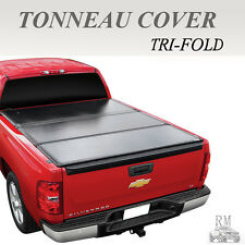 Lock Tri-Fold Hard Solid Tonneau Cover Fits 14-17 Chevy Silverado 1500 5.8ft Bed
