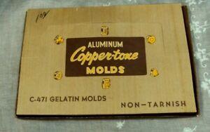 Vtg HONG KONG Non-Tarnish ALUMINUM COPPER-TONE MOLDS C-471 Gelatin Molds NOS