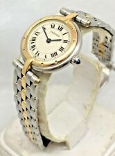 CARTIER PANTHERE  18K Gold & Steel 24mm Women's Round Quartz Watch