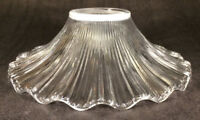 "NEW 7 1/2"" Clear Glass Petticoat Oil Kerosene Lamp Chimney Shade PS648"