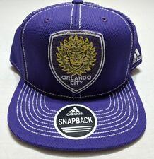 Orlando City Soccer Adidas MLS Snapback Cap Hat Purple Plaid Bill ~ New