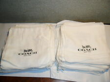 "COACH lot of 50 Drawstring Cloth Linen Dust Cover Bag 8"" x 8"" NEW Unused"