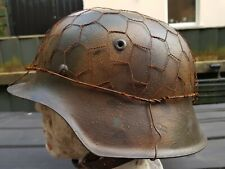 Replica M42 triple Camo German Helmet .