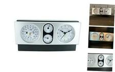 New listing Modern Design 4 in 1 Quartz Desk Shelf Office Clock with Thermometer Barometer a