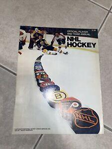 1974 NHL Hockey Official Player Team Annual Boston Bruins Philadelphia Flyers