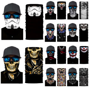 Unisex Balaclava Skull Joker Neck Tube Scarf Bike Gaiter Snood Full Face Bandana