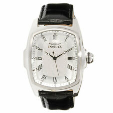 Invicta 16058 Lupah Mens Silver Dial Changeable Leather Band Watch