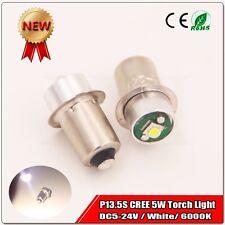 2x NEW 5V-24V CREE LED 5W High Power 180lm P13.5S BULB LAMP LIGHT FOR TORCHLIGHT