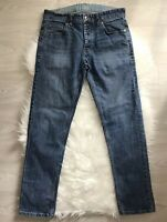"Next Mens Denim Blue Skinny Jeans Button Fly Medium Wash Waist 30"" Short 28"""