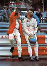 Ronnie Peterson & Jo Bonnier F1 Portrait Spanish Grand Prix 1971 Photograph