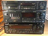 Pioneer VSX-5300 Receiver CT-M6R Cassette Changer PD-M430 CD Changer All Work