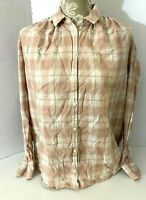 Madewell Shirt Size Small Womens Pink Danville Plaid Long Sleeve Button Down