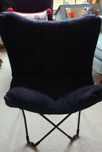 Mainstays Black Folding Plush Padded Butterfly Chair