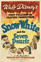 SNOW WHITE DISNEY VINTAGE MOVIE POSTER FILM A4 A3 ART PRINT CINEMA #2