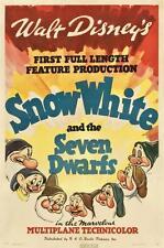 SNOW WHITE DISNEY VINTAGE MOVIE POSTER FILM A4 A3 ART PRINT CINEMA #2