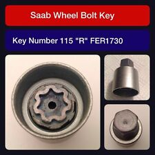 "Genuine Saab locking wheel bolt / nut key FER 1730 115 ""R"""