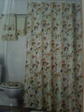 Home Extras Shower Curtain with Liner & Hooks