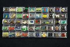 Italian Charms 50 assorted Stainless Steel Wholesale Lot 9mm  (C50-63)