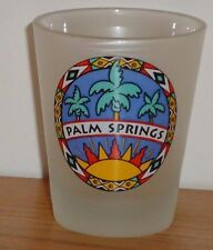 PALM SPRINGS frosted shot glass