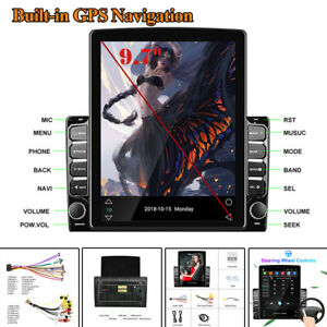 """9.7"""" 2.5D Android 8.1 Car Stereo Radio HD FM Touch Screen WIFI GPS MP5 Player"""