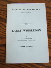 Early Wimbledon by R J Milward - History - Part I to c1540 Illustrated