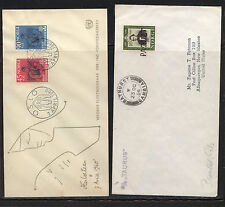 Norway 1 cachet cover and 1 paquebot cover Ms1223