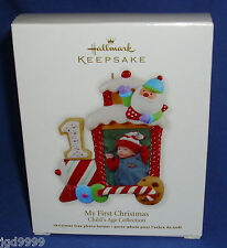 Hallmark Ornament Baby's My First Christmas 2012 Photo Frame Train Engine NIB