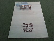 Sept 1970 / 1971 VAUXHALL VX4/90 Saloon - UK 14 PAGE COLOUR BROCHURE - V1979