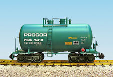 USA Trains G Scale Beer Can Tank Car R15222  Procor - Green